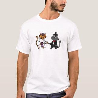 Funny Cats Bride and Groom wedding Art T-Shirt