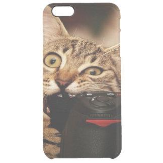 Funny cats - cat camera - cat bite clear iPhone 6 plus case