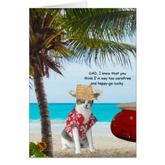 Funny Cats, Fun Loving Son, Father's Day Card