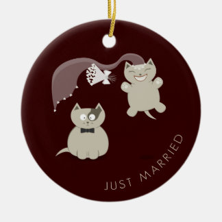 Funny Cats Just Married ornament