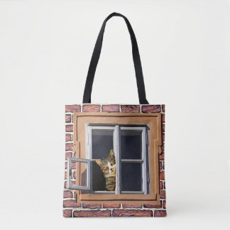 Funny Cats Peeking out the Window Bag