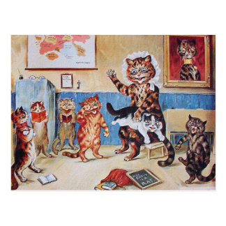 Funny Cats Postcard: The Naughty Puss by L.Wain Postcard