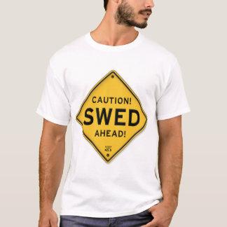 Funny Caution Swed Ahead Swedish American Sign T-Shirt