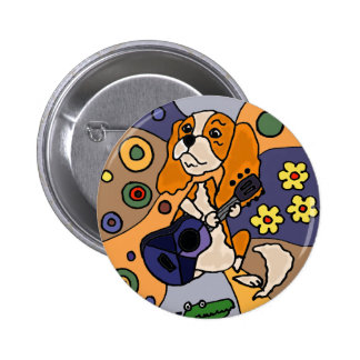 Funny Cavalier King Charles Spaniel Dog Abstract 2 Inch Round Button