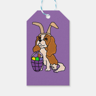 Funny Cavalier King Charles Spaniel Easter Art Gift Tags