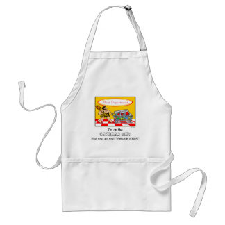 Funny Caveman Diet Meat Dept Cartoon BBQ Standard Apron