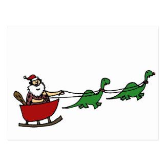 Funny Caveman Santa Claus Postcard