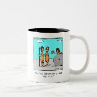 Funny  Cavemen High Tech Mug