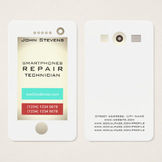 Funny cell phone faux look shape business card