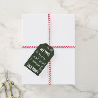 Funny Chalk Christmas Gifts Tags | Pack of 10