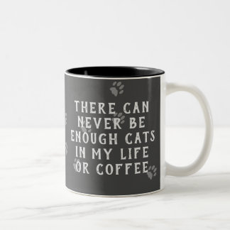 Funny Chalkboard Never Enough Cats or Coffee Mug