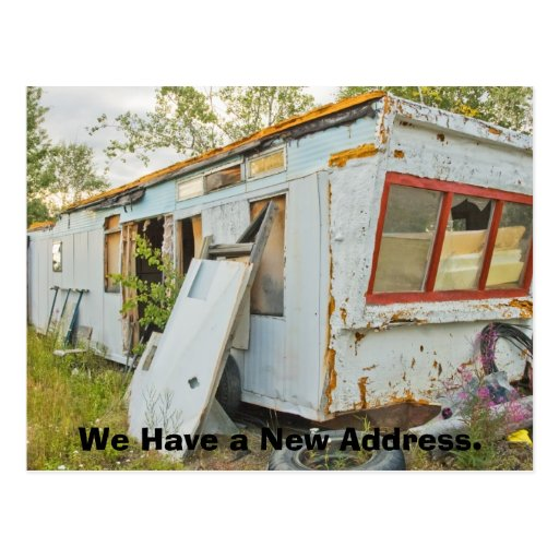 Funny Change of Address Card: Trailer Home Post Card