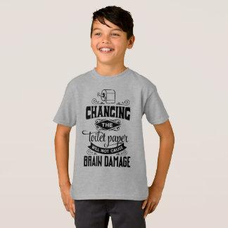 Funny Changing the Toilet Paper Joke Tagless Shirt