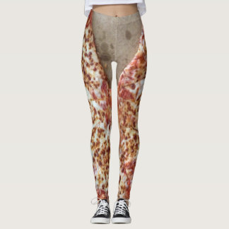 Funny Cheese Pizza Leggings