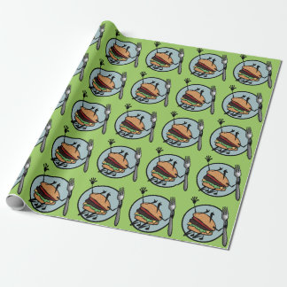 FUNNY CHEESEBURGER  MATTE WRAPPING PAPER