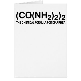 Funny Chemical Formula for Diarrhea Greeting Card