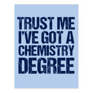 Funny Chemistry Graduation Postcard