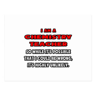 Funny Chemistry Teacher Highly Unlikely Postcard