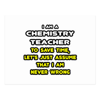 Funny Chemistry Teacher T-Shirts and Gifts Postcard