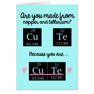 Funny Chemistry Valentines Day Card