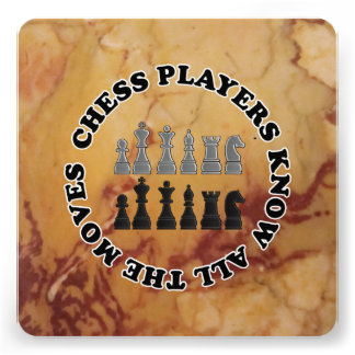 Funny Chess Players Know All the Moves Invite
