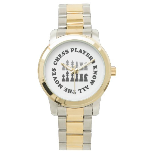 Funny Chess Players Know All the Moves Wrist Watches