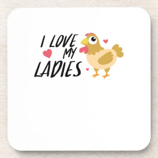 Funny Chicken Lady Chickens Lovers farmer Gift Coaster