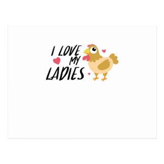 Funny Chicken Lady Chickens Lovers farmer Gift Postcard