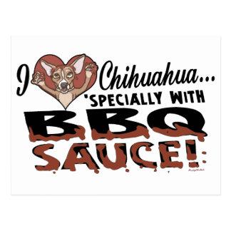 Funny Chihuahua BBQ Postcard