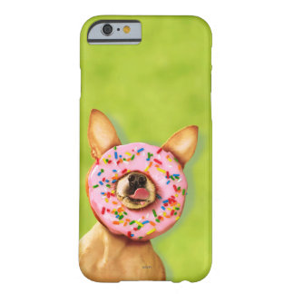 Funny Chihuahua Dog with Sprinkle Donut on Nose Barely There iPhone 6 Case
