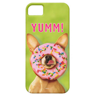Funny Chihuahua Dog with Sprinkle Donut on Nose iPhone 5 Cover