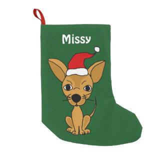 Funny Chihuahua in Santa Hat Christmas Stocking