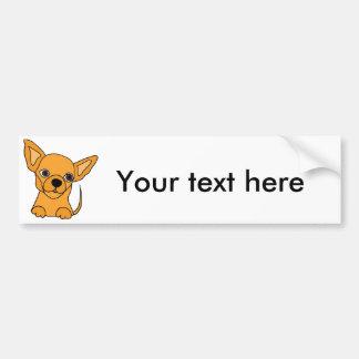 Funny Chihuahua Puppy Dog Bumper Sticker