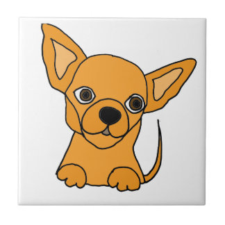 Funny Chihuahua Puppy Dog Ceramic Tile