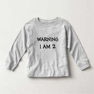 Funny Childrens Warning Label Toddler T-shirt