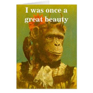 Funny Chimp Greetings Card