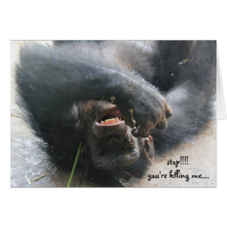 Funny Chimpanzee Birthday Card, Over the Hill Card
