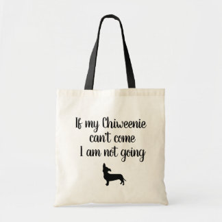 funny Chiweenie puppy  tote bag