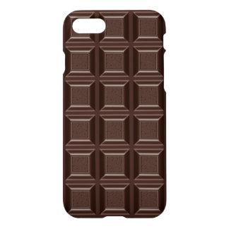 Funny Chocoholic Dark Chocolate Block Brown Glossy iPhone 7 Case