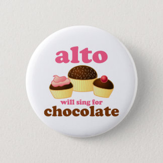 Funny Chocolate Alto Button