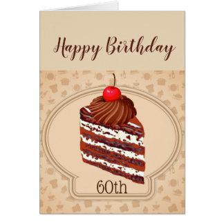 Funny Chocolate Cake  60th Sixty Birthday Card