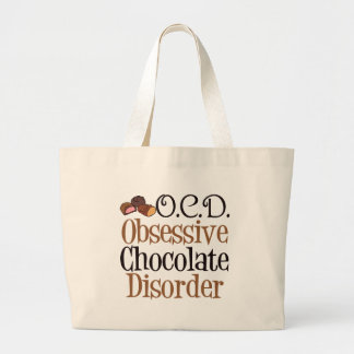 Funny Chocolate Large Tote Bag