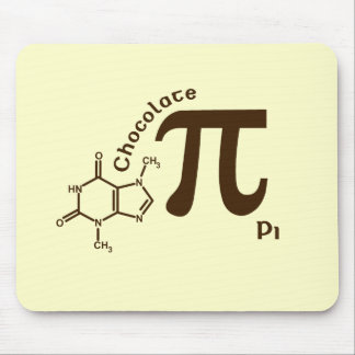 Funny Chocolate Pi Day Chocolate Pi Mousepad