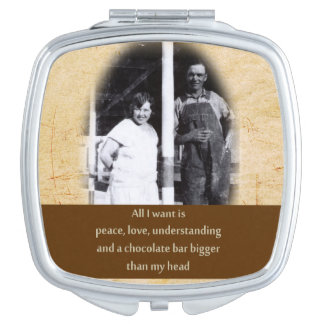 Funny Chocolate Quote Compact Mirror