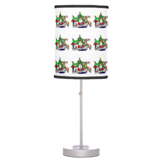 Funny Christmas Art with Santa and Friends Table Lamp