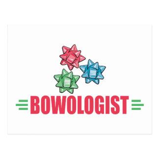 Funny Christmas Bow Lover Postcard