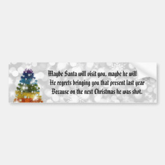 Funny Christmas Bumper Sticker