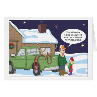 Funny Christmas card, deer hunting humor Greeting Card