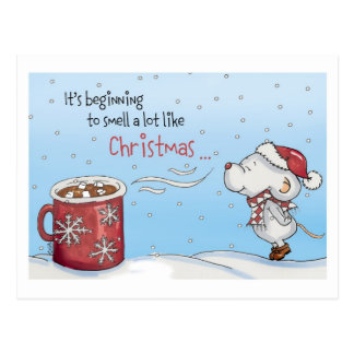 Funny Christmas Card - It's beginning to smell a Postcard