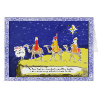 Funny Christmas Card: The Three Kings Card